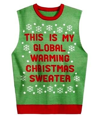 American Rag NEW Green Red Mens Size Large L Christmas Vest Sweater $50 #196