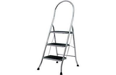 Abru 3 Step Chrome Finish Step Stool. From the Official Argos Shop on ebay