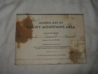A Vintage 1968 General Map of Snowy Mountains Area Hydro-Electric Authority