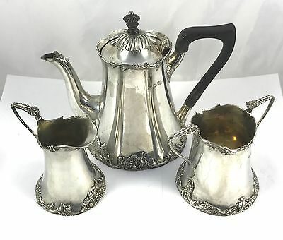Solid London Silver Tea Set Josiah Williams & Co 1902 896g