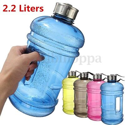1/2/2.2L BPA Free Plastic Big Large Gym Sport Water Bottle Outdoor Picnic Kettle