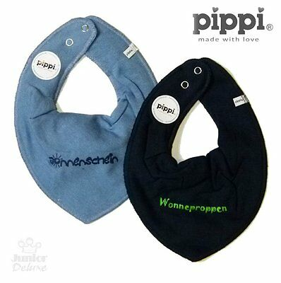 PIPPI Pack Of 2 Cloths / Bib / Scarf sz. 50-92 SUNSHINE Blue New