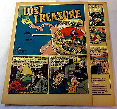 1946 four page cartoon story ~ COCOS ISLAND LOST TREASURE