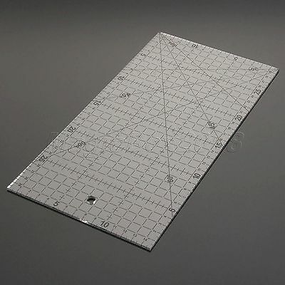 Sewing Quilting Patchwork Ruler Sew Easy Grid Cutting Tools Tailor Scale 30*15cm