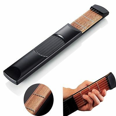 Gadget Portable 6 Strings Pocket Guitar Beginners Practicing Tool 4 Fret
