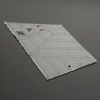 Quilting Craft Patchwork Ruler Sewing Craft DIY Tools Trapezoid Triangle Diamond