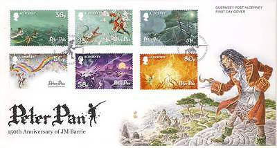 FO2017 2010 Peter Pan Hook Guernsey Post Alderney FDC First Day Cover