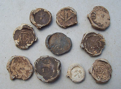 Lot lead seals 1800's detecting finds