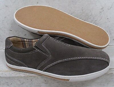 NEW Clarks Mens Gray Suede Leather 00337 Casual Loafers Shoes size mm 8 M*