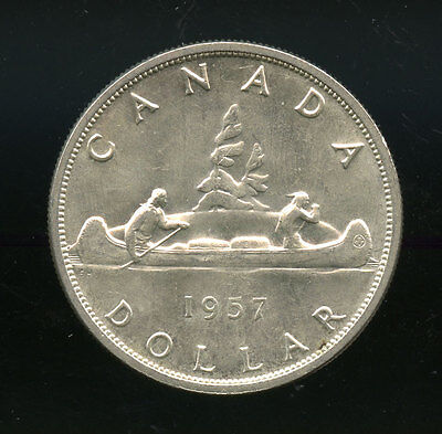 1957 Canada Silver Dollar MS or better A119