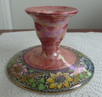Lovely Maling Pink Lustre Candle Stick