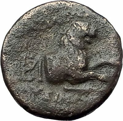 LYSIMACHOS 306BC Thrace King Authentic Ancient Greek Coin ATHENA & LION i61737