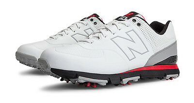 New Balance 574 Golf Shoes White/Red 12 X-Wide