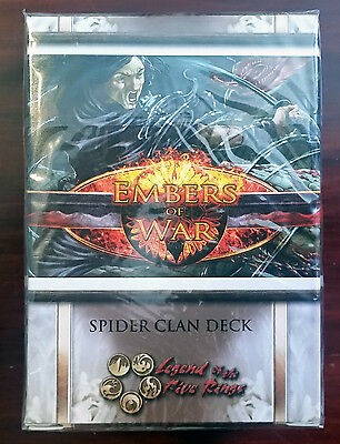 L5R legend of the five rings ccg - sealed Embers of War SPIDER clan starter deck