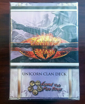 L5R legend of the five rings ccg  sealed Embers of War UNICORN clan starter deck