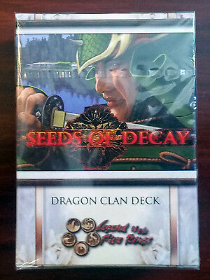 L5R legend of the five rings ccg  sealed Seeds of Decay DRAGON clan starter deck