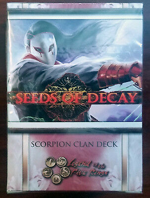 L5R legend of the five rings ccg - Seeds of Decay SCORPION clan starter deck