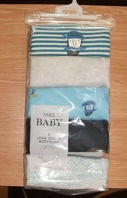 5 x M&S BODYSUITS NEW BORN **NEW**