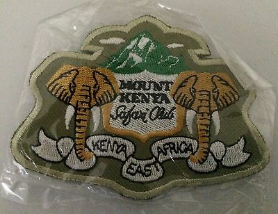 NEW GREEN MOUNT KENYA SAFARI CLUB Sew On Patch NIP EAST AFRICA