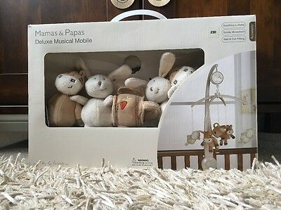 Mamas And Papas Deluxe Musical Cot Mobile Zeddy And Parsnip