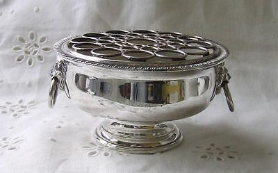 Viners Of Sheffield Small Silver Plate Rose Bowl Lion Deco Ex Con