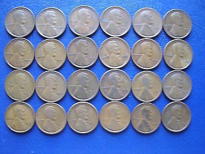 24 Different Lincoln Cents 1909Vdb To 1920-S
