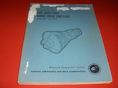 1962NASA 1st US ORBITAL SPACE CENTER FLIGHT MISSION MERCURY SHIP ASTRONAUT GLENN
