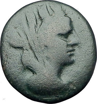SARDES in LYDIA 133BC Authentic Ancient Greek Coin TYCHE & ZEUS w EAGLE i61434