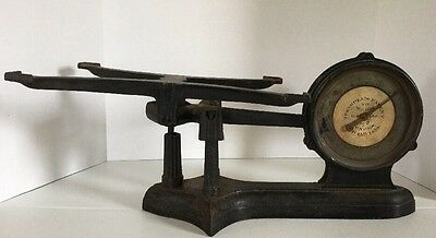 Great Antique 1859 Cast Iron/Brass Turnbull's Double Face Scale