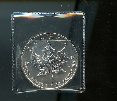 2011 RCM Canada Silver 1 ounce oz .9999 Maple Leaf $5 Coin A772