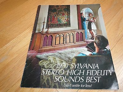 1970 Sylvania Stereo High Fidelity Catalog Consoles / Phonograph / Exponent