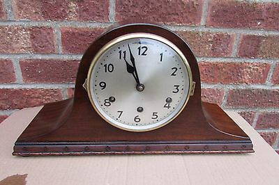 1930s German Mahogany 8 Day Westminster Chime Mantle Clock.