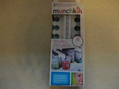 Munchkin Baby Food Pouch Organizers 2 Sets  Holds 32 pouches NEW