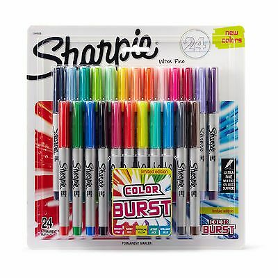 NEW Sharpie Limited Edition 24-PK Color Burst Ultra Fine Tip Permanent Markers