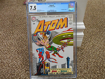 Atom 7 cgc 7.5 1st Hawkman crossover DC 1963 ow/ white pages TV movie JLA VF HOT