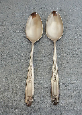 Community Oneida Silverplate 1921 Grosvenor Serving Tablespoon Spoon - 2