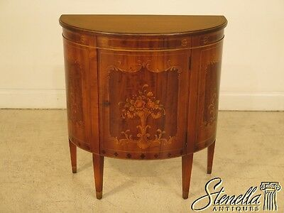 41489E: IMPERIAL Vintage 1/2 Round Paint Decorated Commode