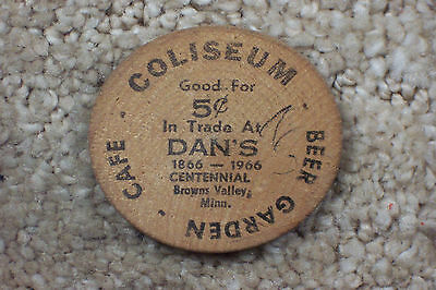Dan's Centennial 1966 / Brown Valley, Minnesota Wooden Nickel