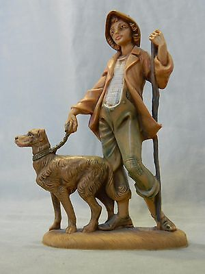 "Vintage Fontanini 5"" Zachariah Shepherd with Dog Nativity Villager Figure #120"
