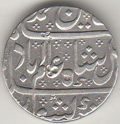 French India Madras Presidency Alamgirii Mint{Arkot} Ry.06  Rupee Silver Coin