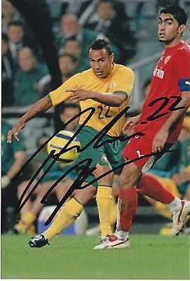Archie Thompson Socceroos Melb Victory Great Signed Photo Coa