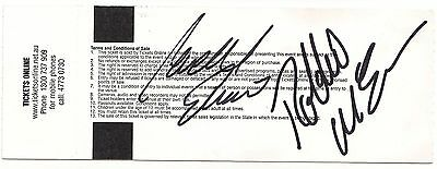 Cadel Evans  Robbie Mcewan Cycling Tour De France Signed Ticket + Photo  Coa