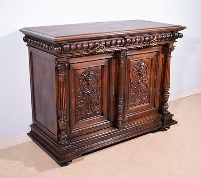 *Antique French Highly Carved Renaissance Revival Sideboard/Buffet in Walnut 1