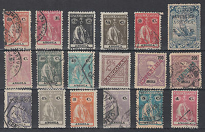 Angola Portuguese Colonies Unchecked Mixed Condition Selection; see both scans