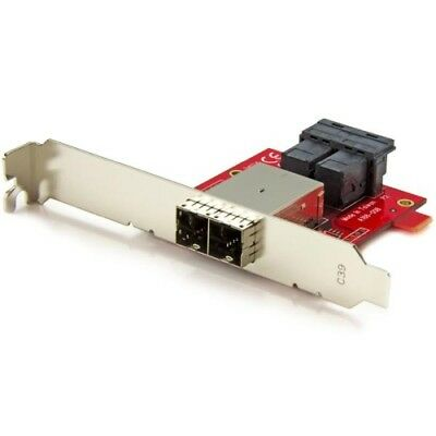 StarTech SFF86448PLT2 Mini-SAS Adapter Dual SFF-8643 to SFF-8644 with Branckets