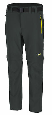 F.LLI Campagnolo Boys Hiking Free-time Stretch Pant Trousers grey yellow