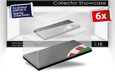 6 Carton Display Cases with Racetrack and Curb Scale 1:18 Triple9