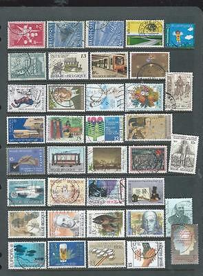 Belgium-nice page of commemorative stamps- good range[554]