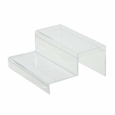 Clear 2 Tier Acrylic Riser Step Display by Combination of Life New