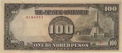 100 Pesos Philippines Japanese Invasion Money Currency Note Unc Banknote Jim Ww2